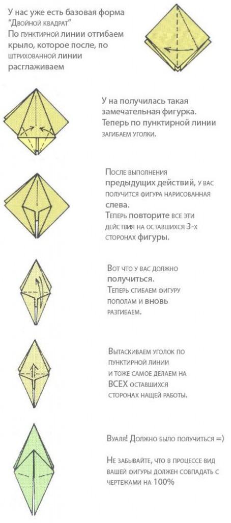 Схема складывания для кусудамы лилия.